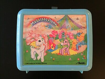 Vintage 1989 My Little Pony Hasbro Lunchbox w/ Thermos Made by Aladdin