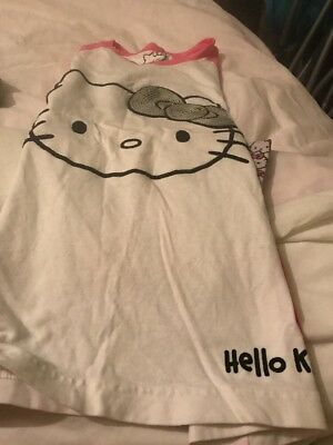 Marks And Spencer Girls Used Hello Kitty Pyjamas 9-10 Years
