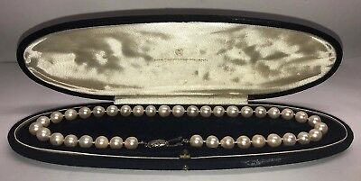 "Vintage Spritzer & Fuhrmann 17"" Pearl Necklace With Original Case"