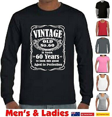 14694bde7 Funny 60th Birthday T-Shirts 1959 Present age 2 perfection 60 years old  Vintage