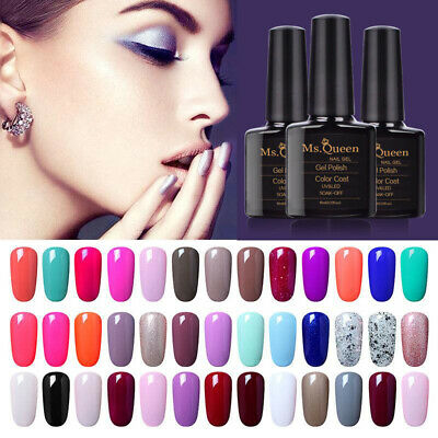 Ms. Queen  Soak Off Gel Nail Polish Base Top Coat Manicure Varnish Lacquer 10ML