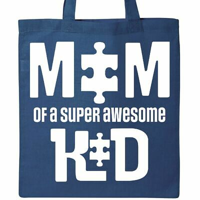 5b85d416a Inktastic Autism Mom Awareness Super Awesome Kid Tote Bag Autistic Spectrum  Asd