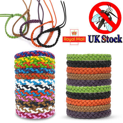 Anti Mosquito Pest Insect Repellent Bracelet Leather Wrist Bands Wristbands 5/10