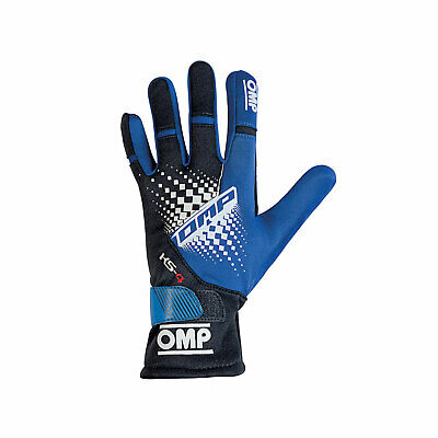 OMP KS-4 MY18 Karting Gloves Blue s. S