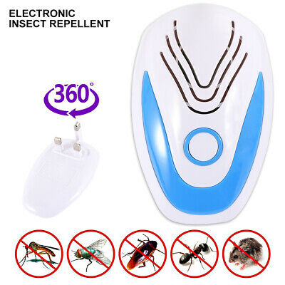 Ultrasonic Mosquito pest Repeller Anti Insect Bug Deterrent Home  UK/EU PlugIn