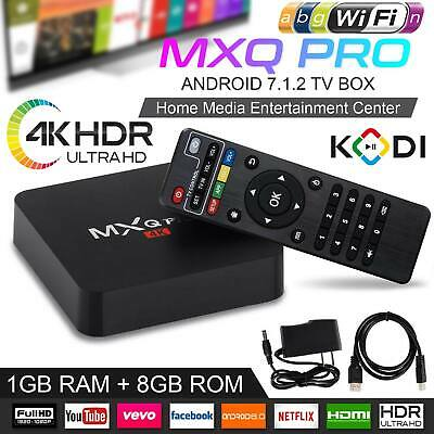 2019 MXQ Pro Android Smart TV Box 8G Quad Core 4K HD 2.4GHz WiFi Media Player