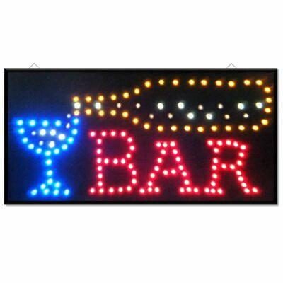 Led Coffee Open Sign Club Salon Window Display Light Home Restaurant Shop Lamps