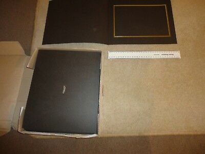 BOX OF 40 x BRAND NEW SPICER HALLFIELD SLIP IN PHOTO MOUNTS BROWN  7 X 10 INCH P