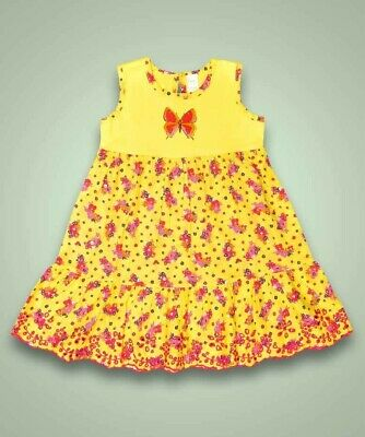BRAND NEW Girls Next yellow floral dress summer holiday party 1 2 3 4 5 6 7 yrs