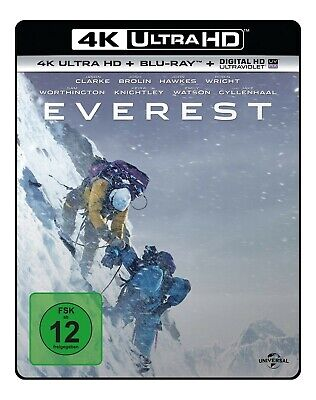 Josh Brolin,Sam Worthington Jason Clarke - Everest 4K  2 Ultra Hd Blu-Ray New