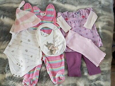 Bundle Of Baby Girl Clothes 0-3 Months Disney Bunny M&Co
