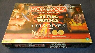 Monopoly Star Wars Episode 1 collector edition Waddingtons Hasbro 100% complete