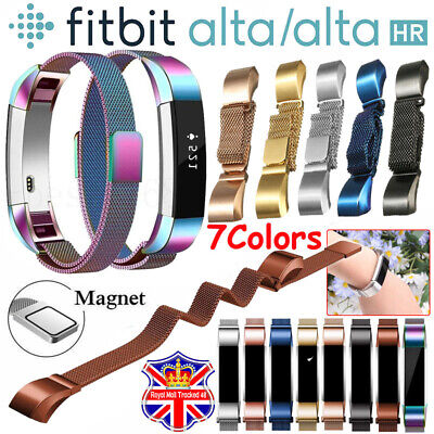 For Fitbit Alta / Alta HR Magnetic Milanese Stainless Steel Watch Band Strap □