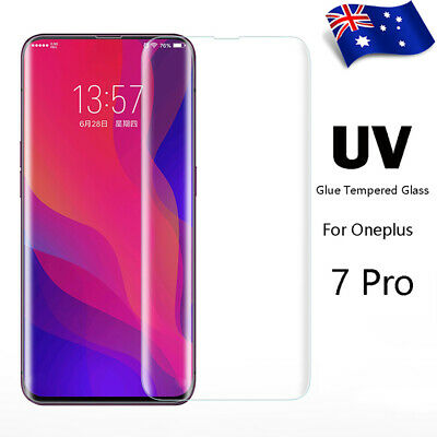 For OnePlus 7 Pro UV 3D Curved Full Glue Light Tempered Glass Sceen Protector AU