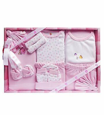 13 Piece Unisex Baby's Pink Color Gift Set Baby Shower Gift Free Ship RG