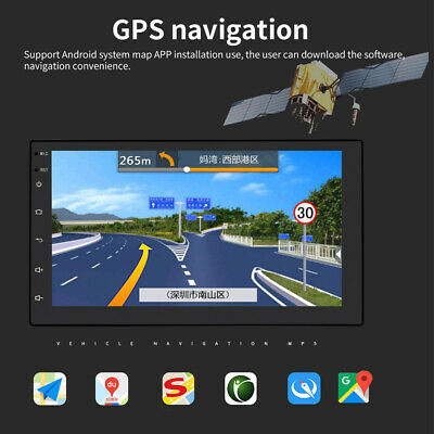 """Android 8.1 Car Stereo Radio GPS Navigation WIFI OBD2 Multimedia Double Din 7"""""""