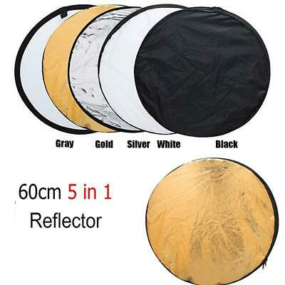 """24"""" 5 in 1 Photography Studio Multi Photo Disc Light Reflector Collapsible Board"""
