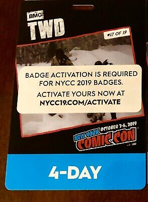 New York Comic Con 4 Day Pass IN HAND - NYCC 2019 Javits Badge Ticket SOLD OUT!!