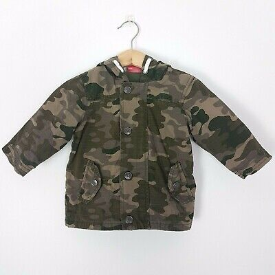 Sprout Size 0 Baby Boys Camouflage Hooded Hoodie Winter Jacket