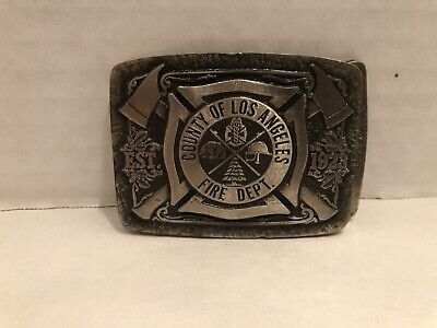 Vintage County Of Los Angeles Fire Department Belt Buckle