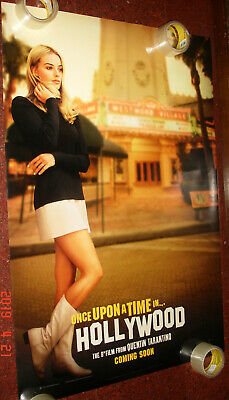 Once Upon A Time In Hollywood Tarantino Original Ds Poster 27 X 40 Margot Robbie
