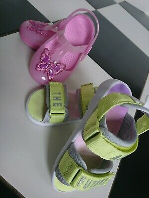 Crocs h&m girl jelly beach sandals size UK 7 infant great condition