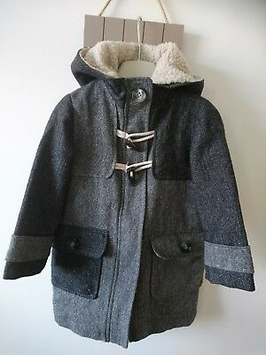 Next girl wooly hooded coat 3-4 years great condition