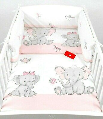 LUXURY 3 PIECES NURSERY /BABY BEDDING SET- BUMPER-PILLOW-QUILT COVER to fit COT