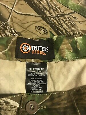8d949cf786b98 NWOT Mens OUTFITTERS RIDGE Camo Pants 2XL (44-46) Green Brown Hardwoods  REALTREE