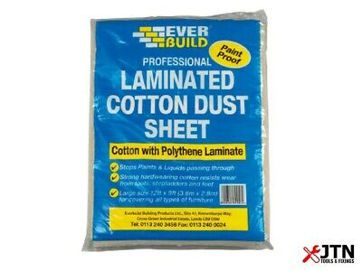 Everbuild Laminated Cotton Twill Dust Sheet 3.6m x 2.7m (12ft x 9ft)