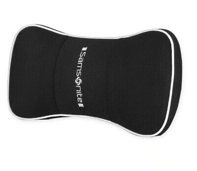 Samsonite Premium Neck Support Cushion Pillow Memory Foam Black Adjustable Strap