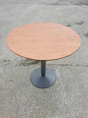 Used Wood Pattern Large Round Cafe / Bistro / Restaurant Tables £30 Each + Vat