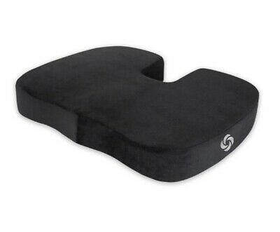 Samsonite Memory Foam Rectangular Seat Cushion Pillow in Black Travel Car Plane