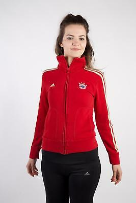 Vintage Adidas Tracksuits Top Bayern Munchen Retro Streetwear UK  S Red - SW2203