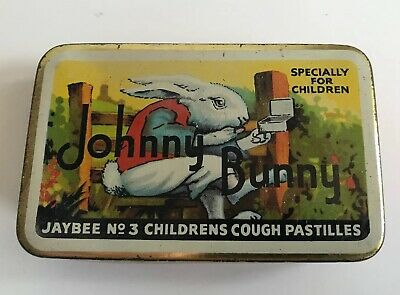 Vintage Tin Johnny Bunny Children's Cough Pastilles