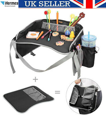 Safety Waterproof Snack Baby Car Seat Table Kids Play Travel Tray Shoulder Bag