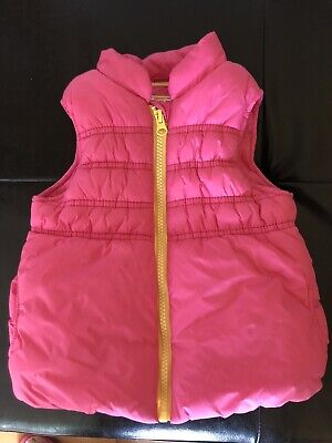 Girls Gilet Pink 12-18months 86cm Mothercare Preloved Sleeveless