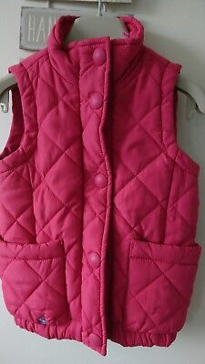 Joules girl quilted body warmer gilet 3 years VGC