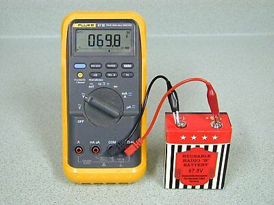 """Reusable 67.5V Replacement """"B"""" Battery for Portable Tube Radios & Tube Circuits"""