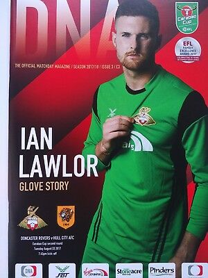 Doncaster Rovers v Hull City Carabao Cup 2nd Round 22/8/2017 MINT CONDITION