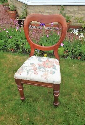 Victorian Balloon Back Bedroom / Hall Chair in Excellent Condition
