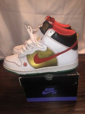 separation shoes 1ae76 83670 NIKE SB DUNK High Money Cat - Size 11 - White / Chile Red - 2007 -  305050-162
