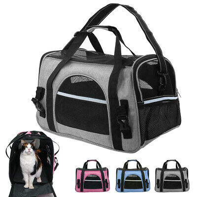 Pet Dog Carrier Bag Soft Sided Puppy Cat Tote Comfort Travel Airline Approved L