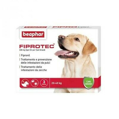 Beaphar FIPROTEC Antiparassitario Spot-On CANE kg.20-40 [ 1 a 18 Pipette SFUSE ]