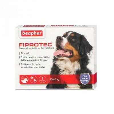 Beaphar FIPROTEC Antiparassitario Spot-On CANE kg.40-60 [ 1 a 18 Pipette SFUSE ]