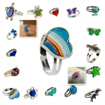 Ladies/Child's Heart Colour Changing Mood Ring Adjustable One Size Fits Magic
