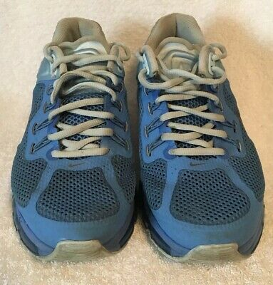 2fc66bffca Women's 11 Nike Air Max 2013 Blue Reflective Running Shoes 555363-404  Preowned