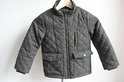 M&S boys quilted khaki jacket 5-6 years VGC