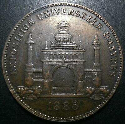 Belgium medallion - Exposition universelle d'Anvers 1885 - Antwerpen 30.4mm