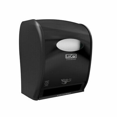 Solaris Paper LoCor Wall-Mount Electric Paper Towel Dispenser, Black D68003